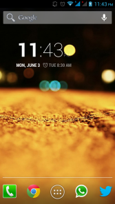 Homescreen with Digital Clock WIdget